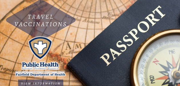 travel vaccinartions with passport and compass