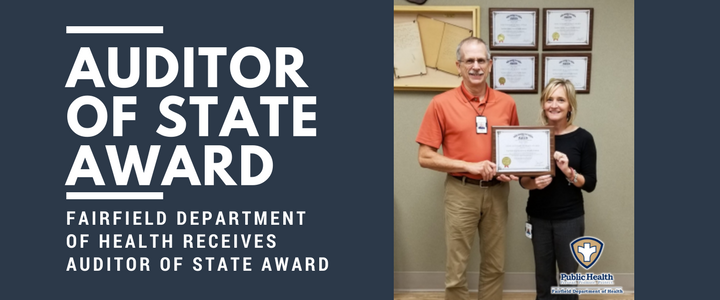Fairfield Department of Health receives Auditor of State Award